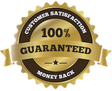 All of our products are 100% satisfaction guaranteed